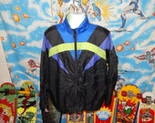 80s Windbreakers, Jackets, Coats 80s Adidas Colorblock Neon Windbreaker Jacket  true vintage  trefoil  XL $32.99 AT vintagedancer.com