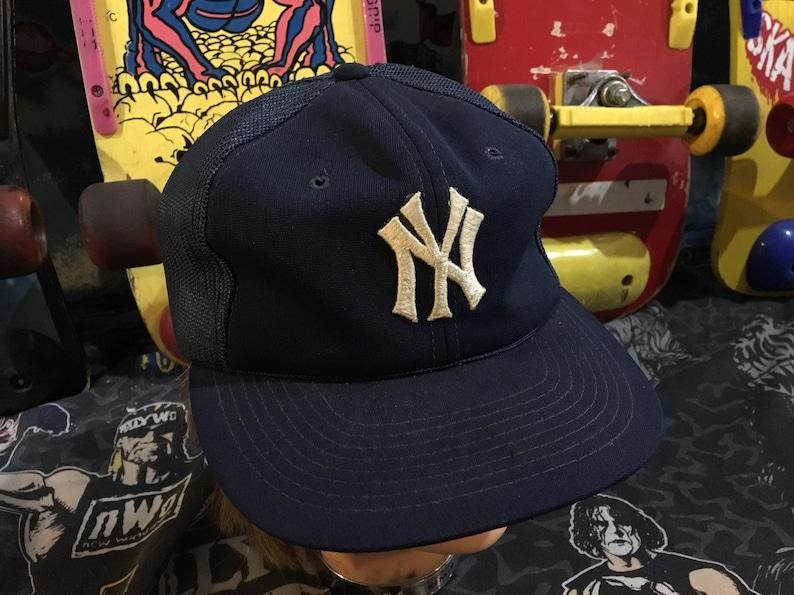 c5fedeb0ab7765 Sport Specialties NEW YORK YANKEES mesh trucker hat vintage | Etsy
