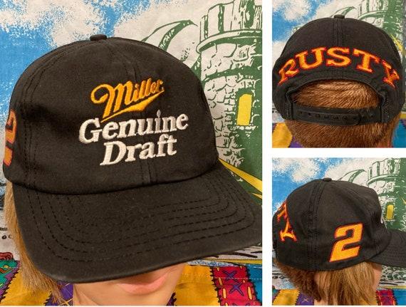 Vintage 90s Miller Genuine Draft MGD Racing Rusty Wallace Beer Hat Nascar Snapback Hat Baseball Cap