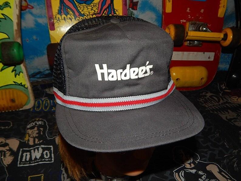 fabdd288dbf78 Vintage HARDEES Snapback Mesh Trucker Hat