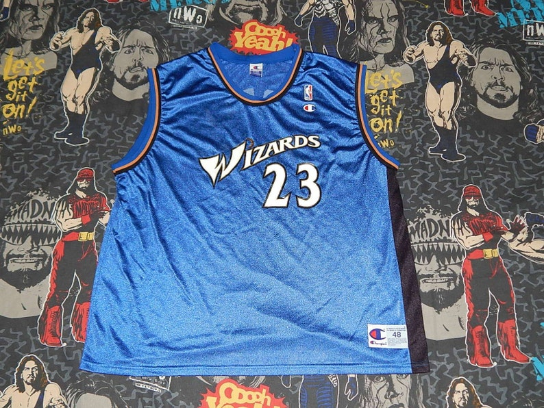 newest c1dba 9926f Michael Jordan Washington Wizards CHAMPION BASKETBALL JERSEY - sz 48 xl -  vintage