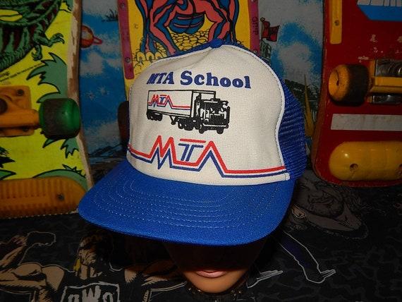 1980s MTA Truck Driving School Snapback mesh trucker hat  b71cab0ee26c