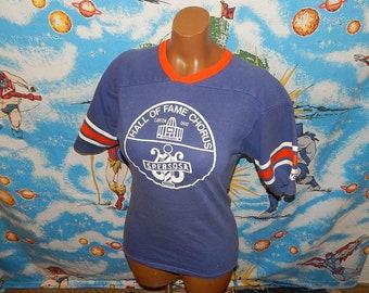 1970s Pro Football Hall Of Fame Chior Jersey Shirt - sz L - vintage nfl rare ringer