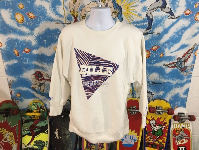 90s Buffalo Bills ZUBAZ reverse weave crewneck sweatshirt  7bddb2b36
