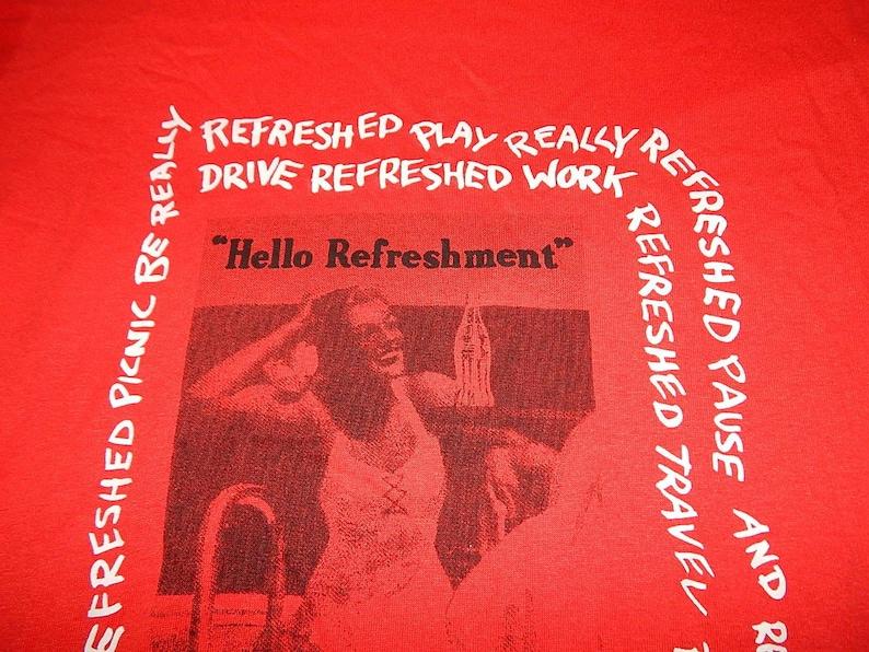 1980s vintage COCA COLA single stitch shirt deadstock w tags coke pepsi tee tshirt