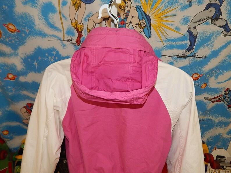 90s NAUTICA vtg neon Jacket vintage yacht full zip pink coat sz S