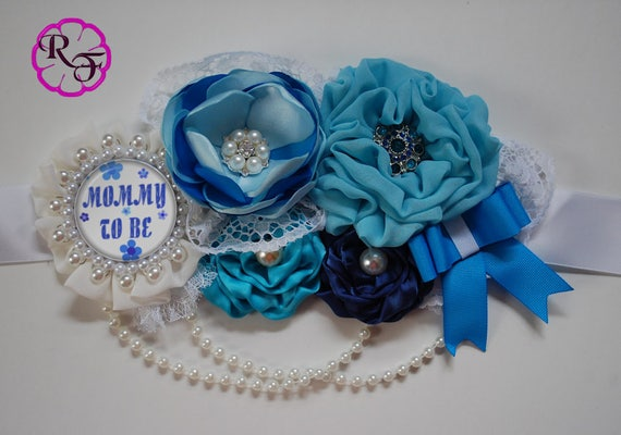 Maternity Sash Boy Blue Maternity Sash Pregnancy Sash Mommy To