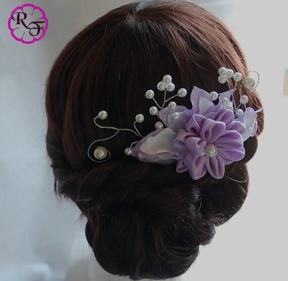 Bridal Hair Accessory Lilac Flower Bridal Hair Flowers Wedding