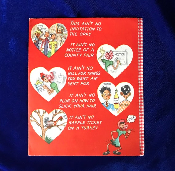 1940s american greetings valentine humorous 5 page card m4hsunfo