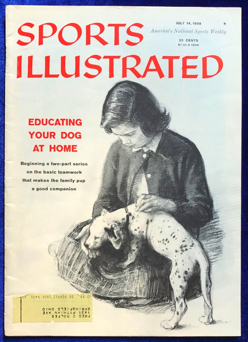 1958 Dalmatian Cover Art Sports Illustrated Dog Training Issue, Kodak  Advertisement, Golf Christmas Gift!