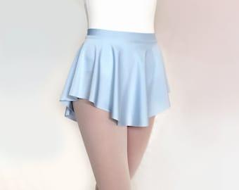 Ballet  Skirt -Light Blue Nylon/Spandex- Dance Skirt Baby Blue- Royall Dancewear