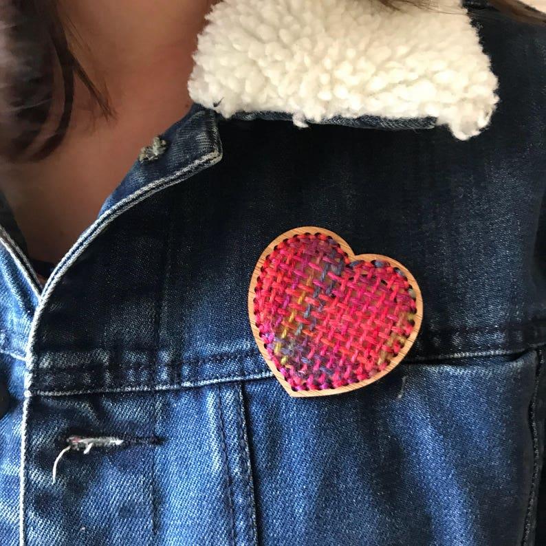DIY small heart handweaving decoration image 0
