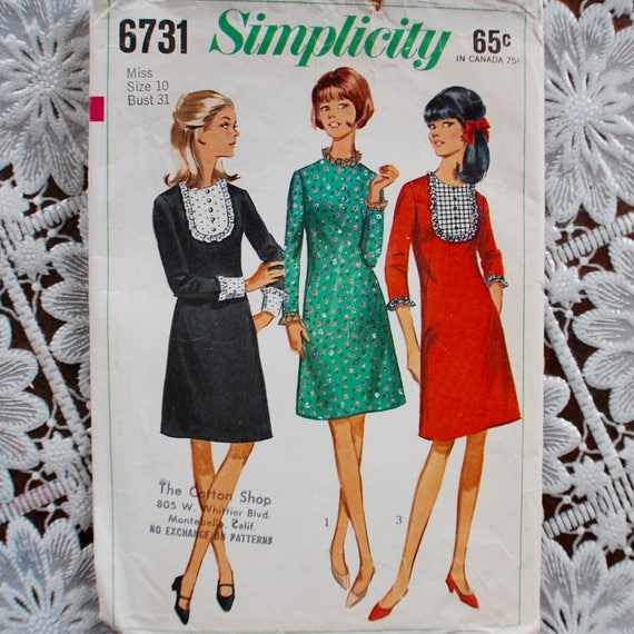 1960s Vintage Sewing Pattern Canada Teen Simplicity 6731 | Etsy