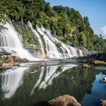 Twin Falls at Rock Island State Park, Tennessee