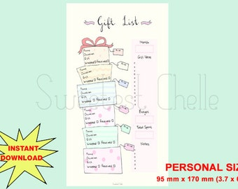 Items Similar To Cute Printable Field Notes Tn Insert Gift List