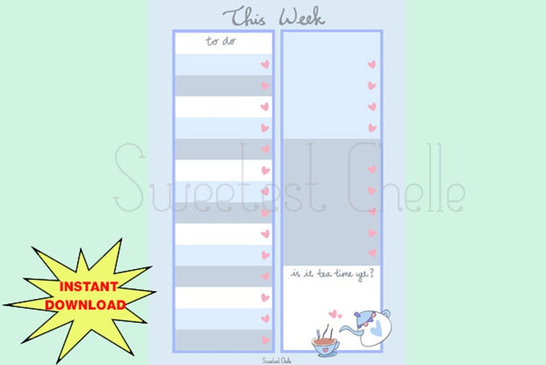 photograph relating to Cute Printable to Do List named Adorable Printable A5 Site - Printable In the direction of Do Listing - Lovely Tea Year Style - This Months Toward Do Checklist - Reminder - Necessary Listing - Middle Record