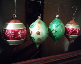 Mercury glass ornaments | Etsy