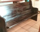 Reclaimed Church Pews Custom Sizes and Finishes Available