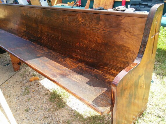 Admirable Reclaimed Church Pews Custom Sizes And Finishes Available Gmtry Best Dining Table And Chair Ideas Images Gmtryco
