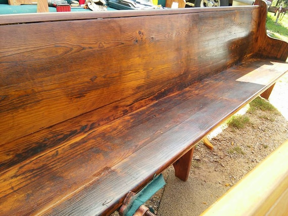 Awesome Reclaimed Church Pews Custom Sizes And Finishes Available Gmtry Best Dining Table And Chair Ideas Images Gmtryco