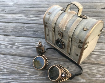 7b0f2493c7f5 Steampunk Goggles with Suitcase