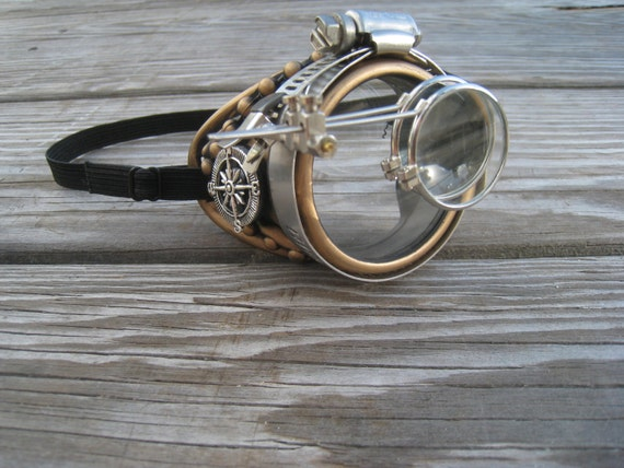 Steampunk Goggles Burning Man Monocle Festival Cosplay Costume Gift Idea