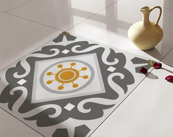 Floor vinyl Mats Vinyl Tiles decals for floor & wall by videcor