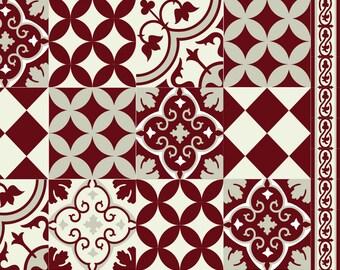 Kostenloser Versand Fliesen Muster Dekorative PVCVinyl Matte Etsy - Vinyl matte fliesen