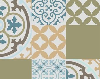 Tappeto pvc vinile opaco piastrelle pattern decorativi etsy for Mattonelle in vinile