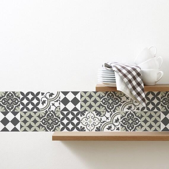 Mix tegel stickers keuken/badkamer tegels vinyl vloer tegels