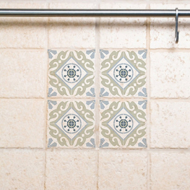 Tile Decals Kitchen/Bathroom tiles vinyl floor tiles free shipping - 212