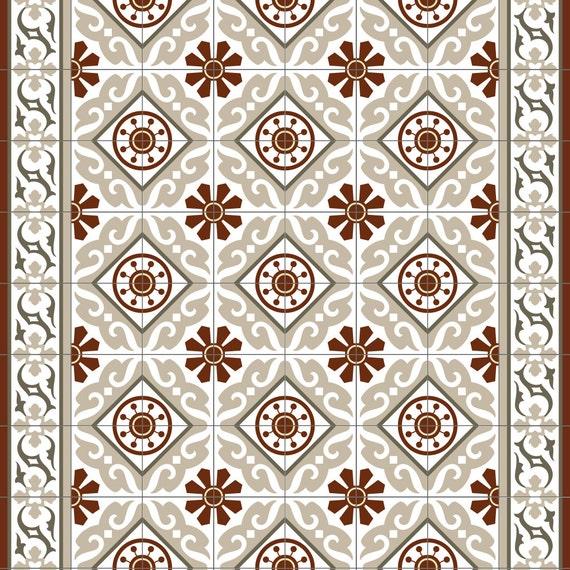 Vinyl Teppich. Teppich X Vintage Teppich Patchwork Rot Braun ...