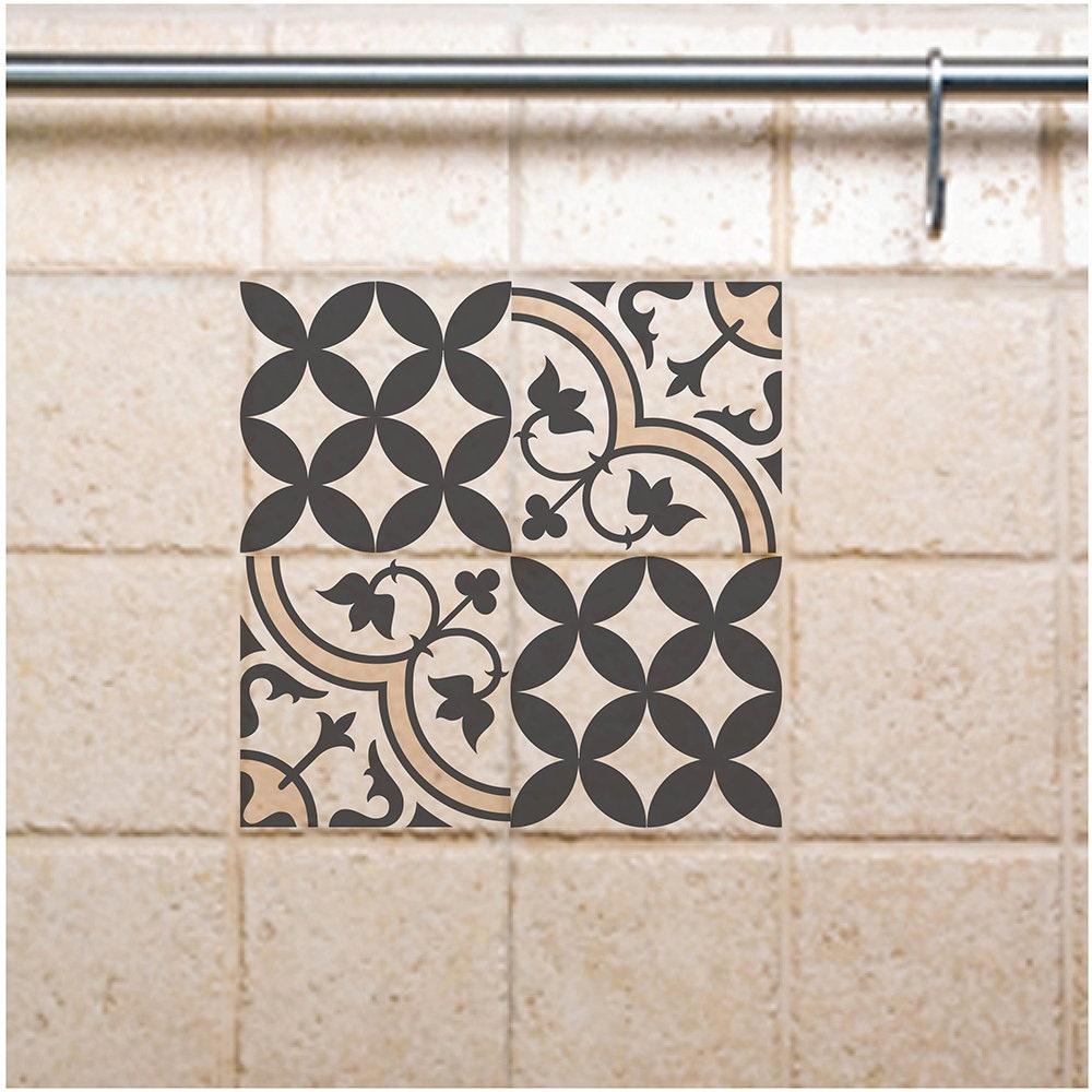 Tile Decals Kitchen/Bathroom Tiles Vinyl Wall Floor Tiles