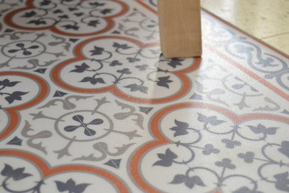 Tegels Met Patroon : Pvc vinyl mat tegels patroon decoratieve linoleum deken oranje etsy