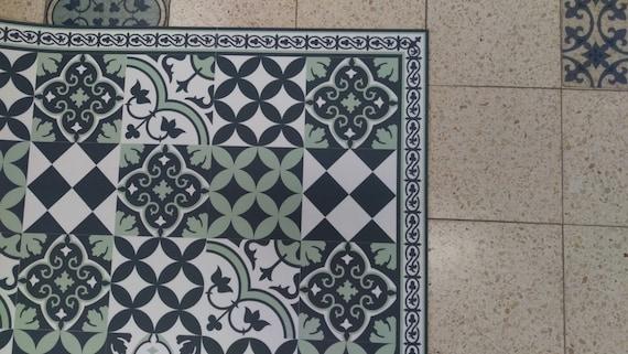 Kostenloser Versand Fliesen Muster Dekorative PVC-Vinyl Matte Linoleum  Teppich