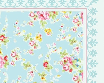 SALE ! Flowers Pattern Decorative PVC vinyl mat linoleum rug - roses 04,  140X90 CM