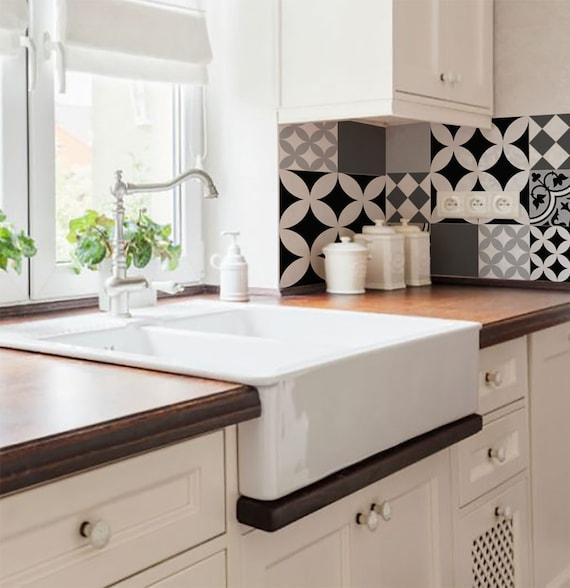 Mix tegel stickers keuken/badkamer tegels vinyl vloer tegels   Etsy