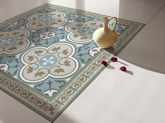 Traditional Tiles Floor Tiles Floor Vinyl Tile Stickers Etsy