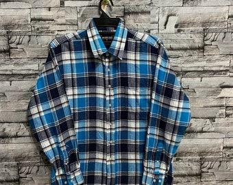 Vintage Flannel Trans Position single pocket plaid design size M fit L red