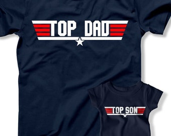 8218461c1 Top Dad Top Son Father Son Shirts Father's Day Pilot Jet Airplane Matching  Father Son TShirts 1st Fathers Day Gift Dad Son Boys Tees
