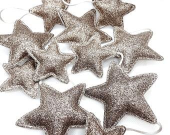 Star garland fine fabric glitter