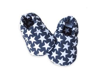 Navy stars baby white