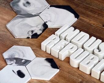 Concrete letters, Concrete Alphabe, Cement letters, Cement decor, Concrete decor, Beton, Small letters, Modern decor, Customized letters