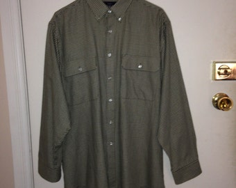 Mens Olive Green Button Up Shirt Etsy
