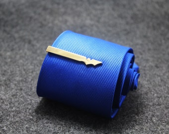 gold bat tie clip