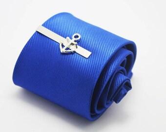 silver anchor tie clip hero tie clip wedding gift