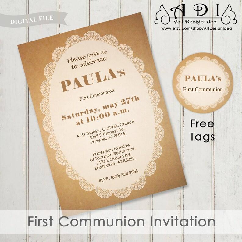 Invitacion Primera Comunion Niño Inviti Prima Comunione First Etsy