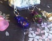 Glass Perfume Bottle Pendant Necklaces