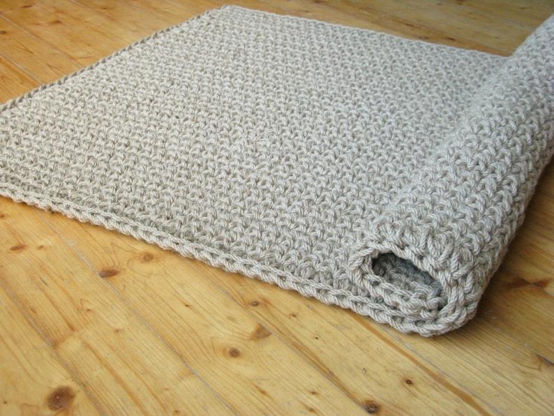 Crochet tappeto porta iuta / juta corda Tappeto / Zerbino /   Etsy