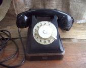 Vintage Rotary Dial telephone Desk Phone Retro Soviet Phone Industrial art Gift Collectibles Soviet Electronics Antique DeskTelephone